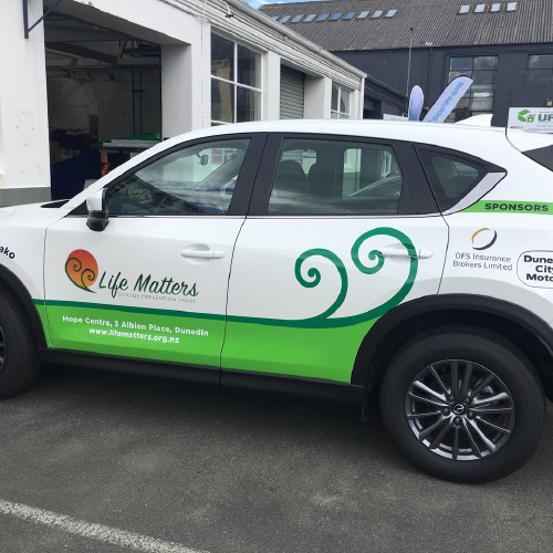 Life Matters car wrap by ProSigns
