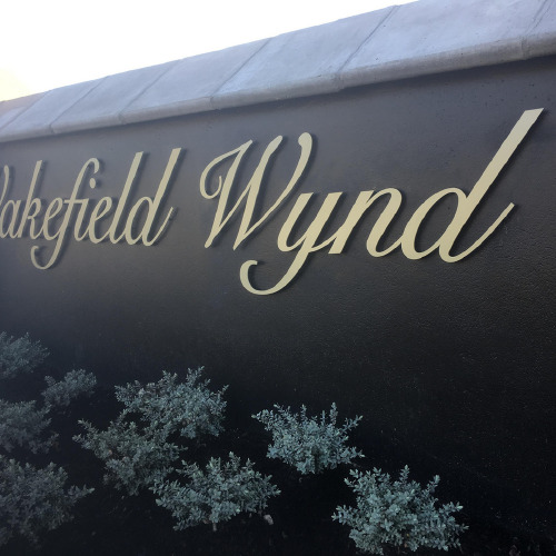 Wakefiled Wynd 3D sign by ProSigns side view