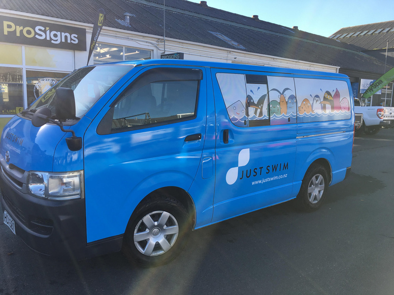 Just Swim van wrap