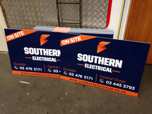 Southern Electrical coreflute sign